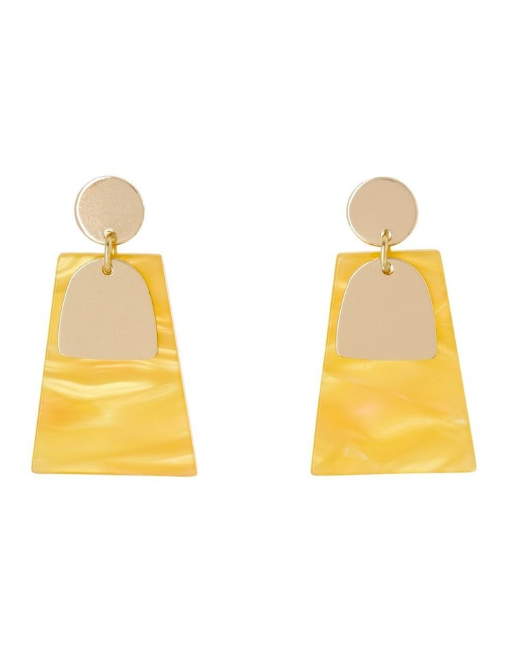 Abstract Drop Earring Gold/Mustard image 1