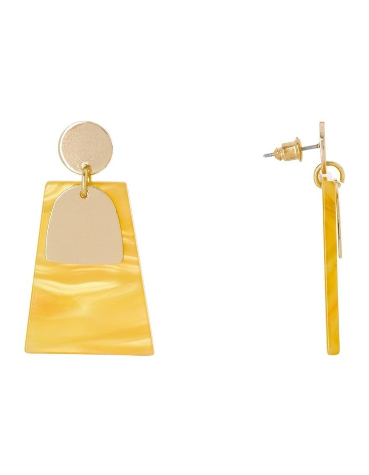 Abstract Drop Earring Gold/Mustard image 2