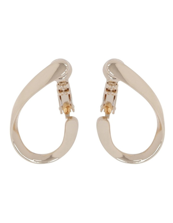 Small Twist Hoop Earring image 1