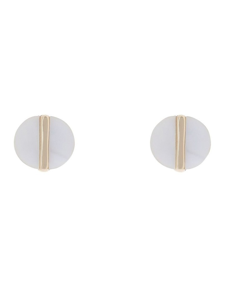 Gold Spliced Stud Earring image 1
