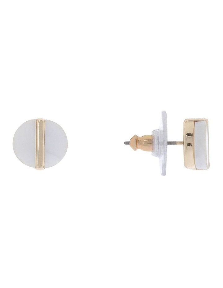 Gold Spliced Stud Earring image 2