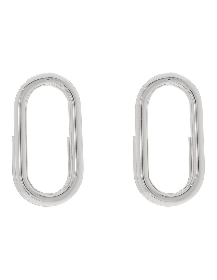 Mini Oval Stud Earring image 1