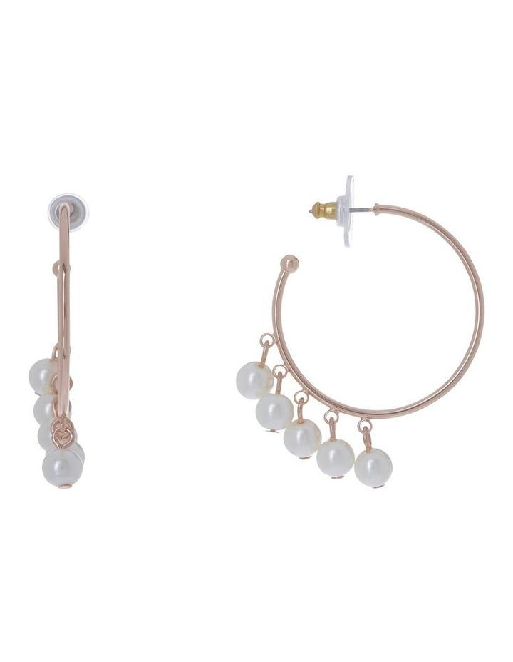Multi Pearl Hoop Earring image 1