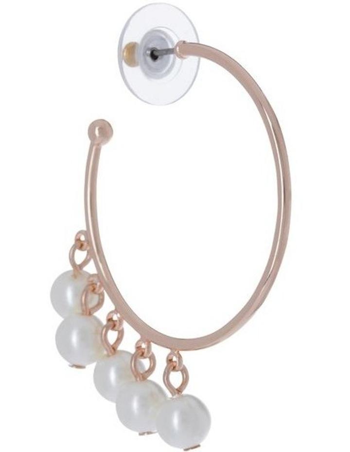 Multi Pearl Hoop Earring image 2