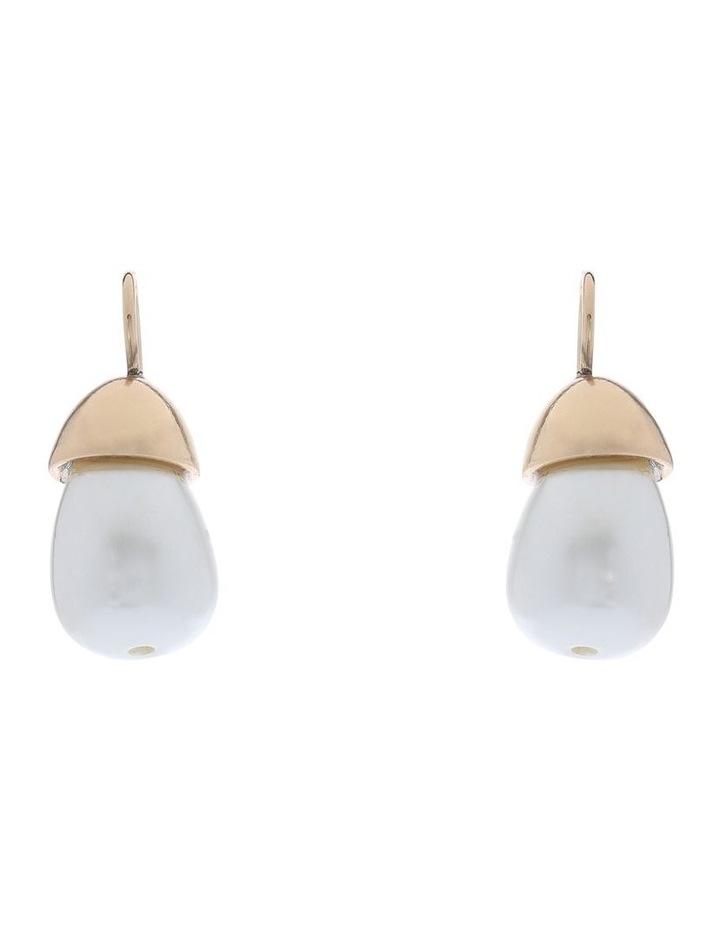 Simple Pearl Hook Earring image 1