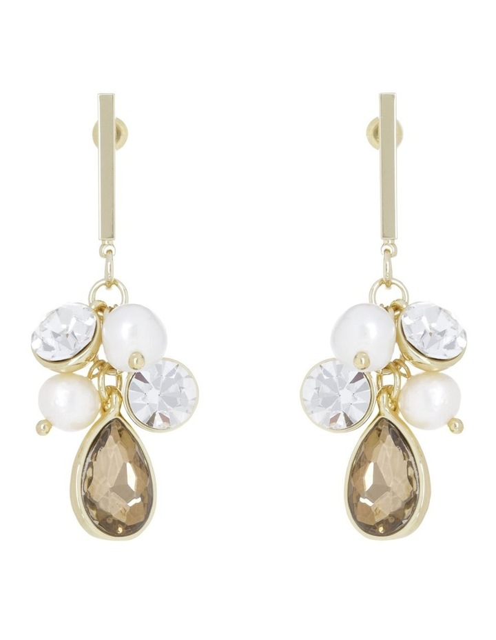 Crystal Cluster Drop Earring image 1