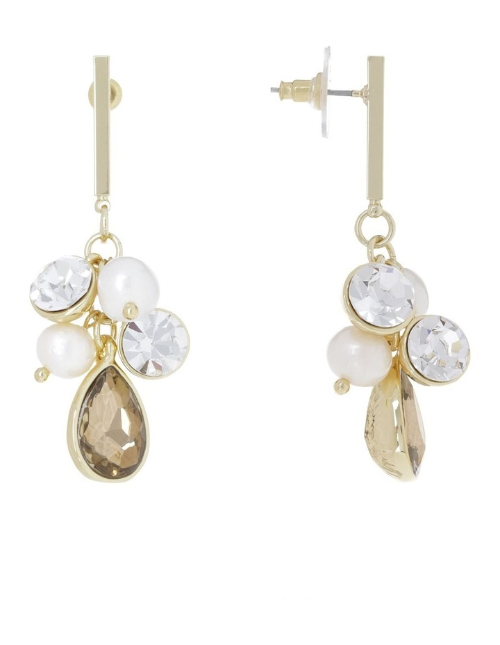 Crystal Cluster Drop Earring image 2