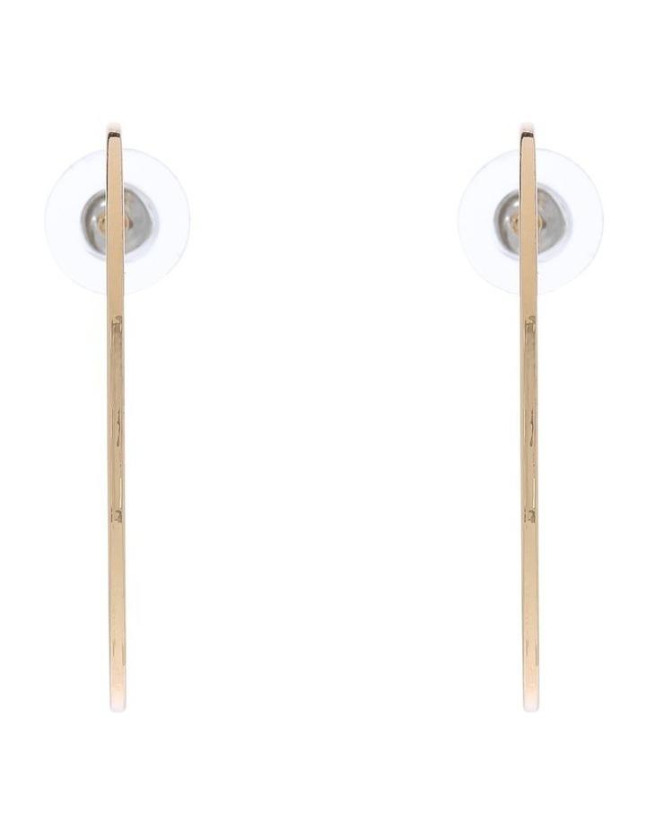 Split Disc Stud Earring image 1