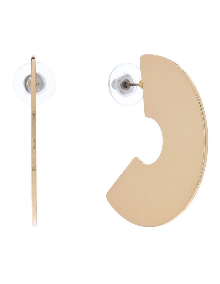 Split Disc Stud Earring image 2