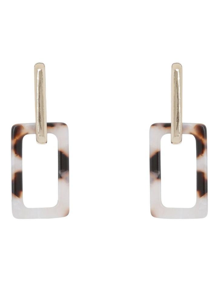 Metal/Acetate Square Drop Earring image 1
