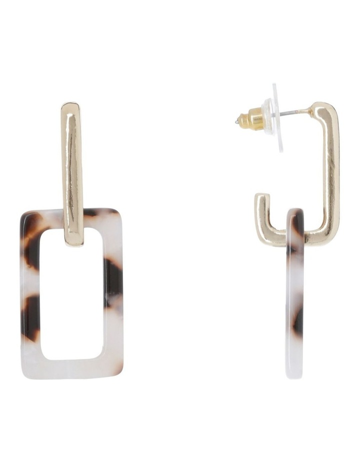 Metal/Acetate Square Drop Earring image 2