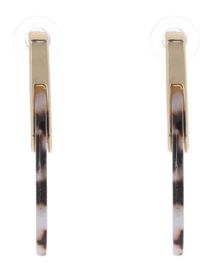 Oval Acetate Hoop Earring image 2