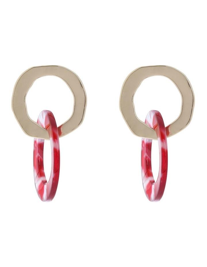 Round Acetate Dble Hoop Earring image 1
