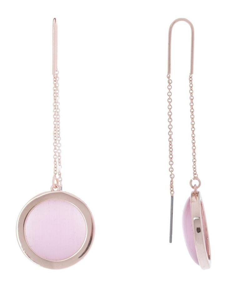 Rose Gold/Catseye Chain Drop Earring image 2