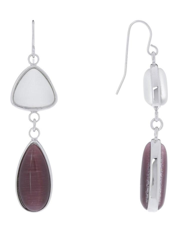 Silver/Catseye Drop Earring image 2
