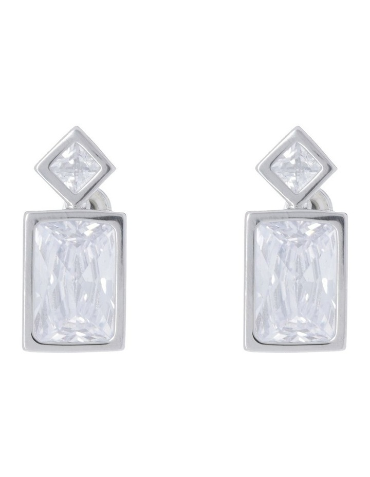 Diamonte Rectangular Stud image 1