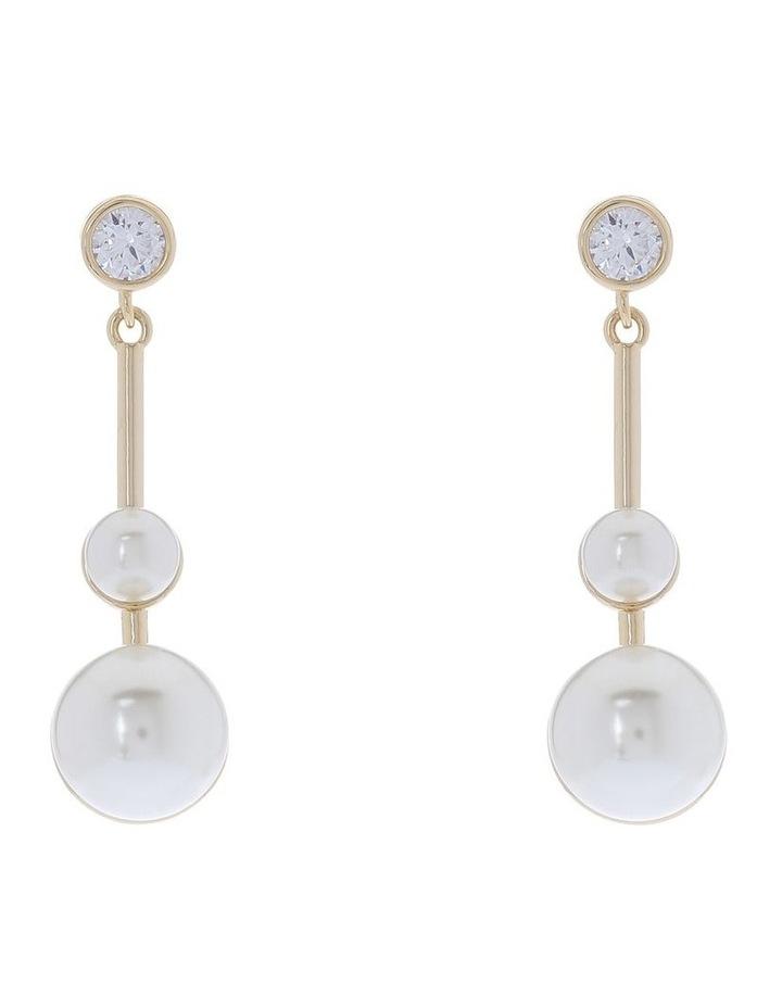 Double Pearl Drop Earring image 1