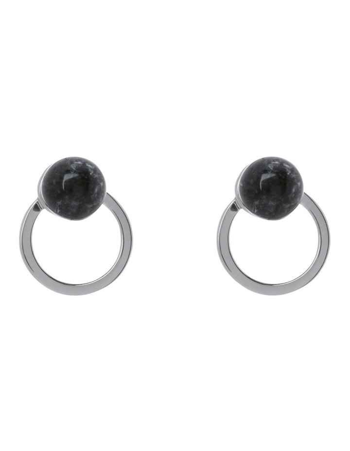 Spherical Ball Stud Earring Silver image 1