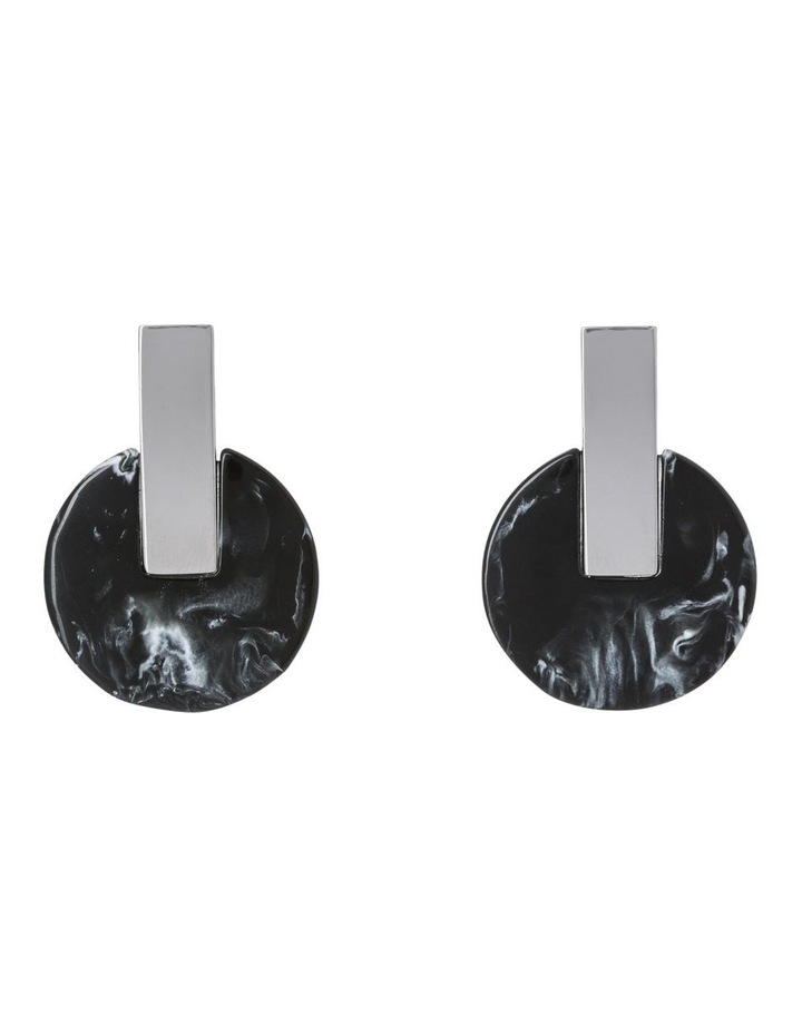 Marbled Disc Post Earring image 1