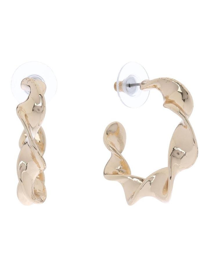 Ribbon Twist Hoop Earring image 2