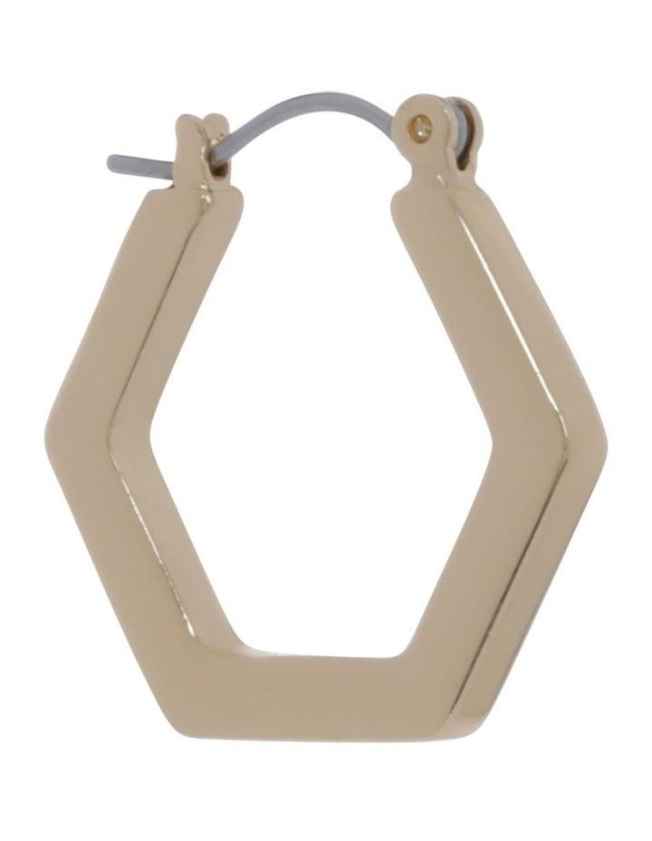 Hexagonal Hoop Stud Earring image 2