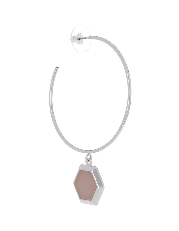 Hexagonal  Hoop Earring image 2