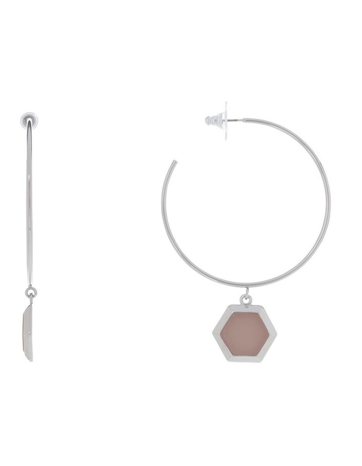 Hexagonal  Hoop Earring image 3
