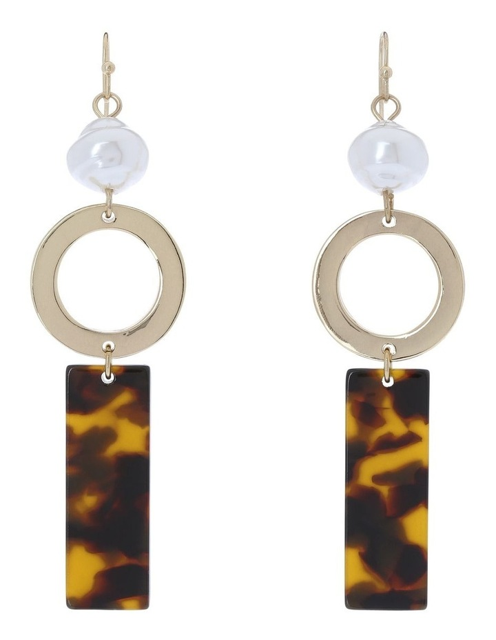 Mixed Tort Drop Earrings image 1