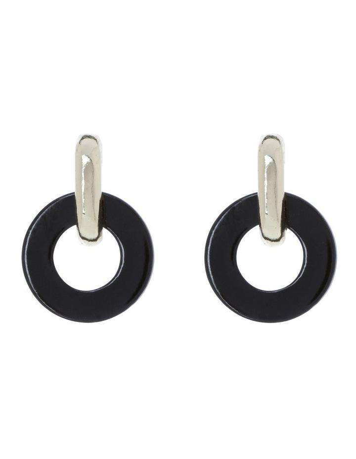 Simple Circle Drop Earring image 1