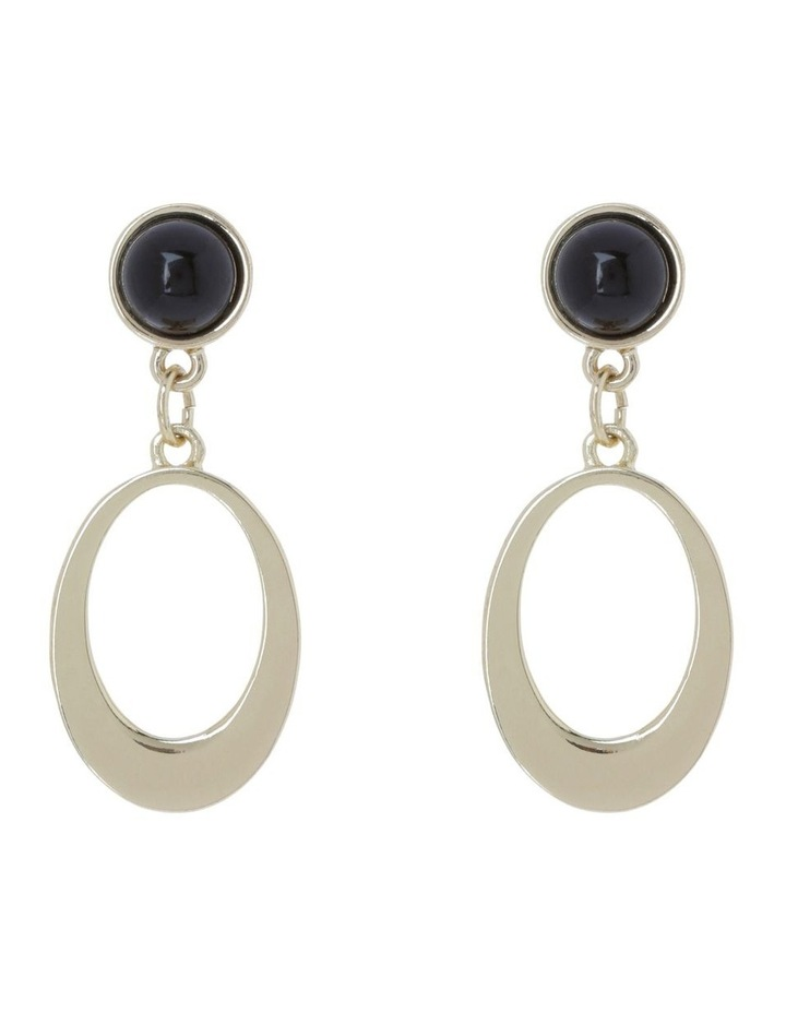 Oval Drop Earring image 1
