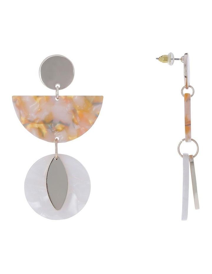 Billie Marble Metal Earrings image 2