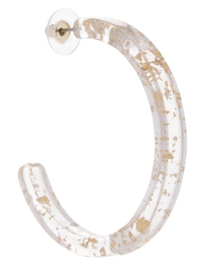Gold Fleck Acetate Hoop image 2