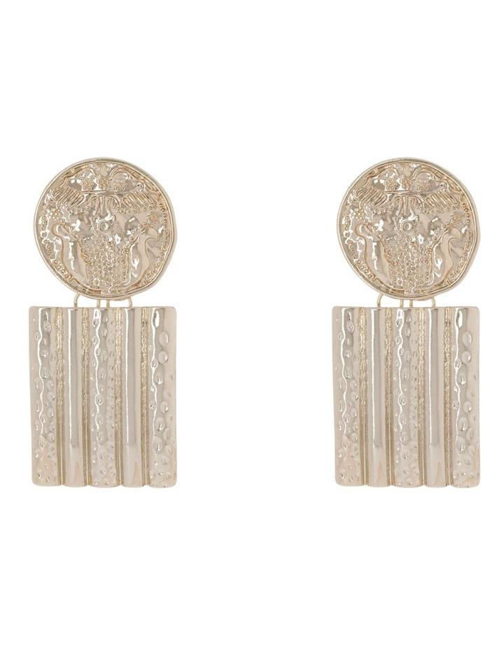 Retro Oversize Coin Earring image 1
