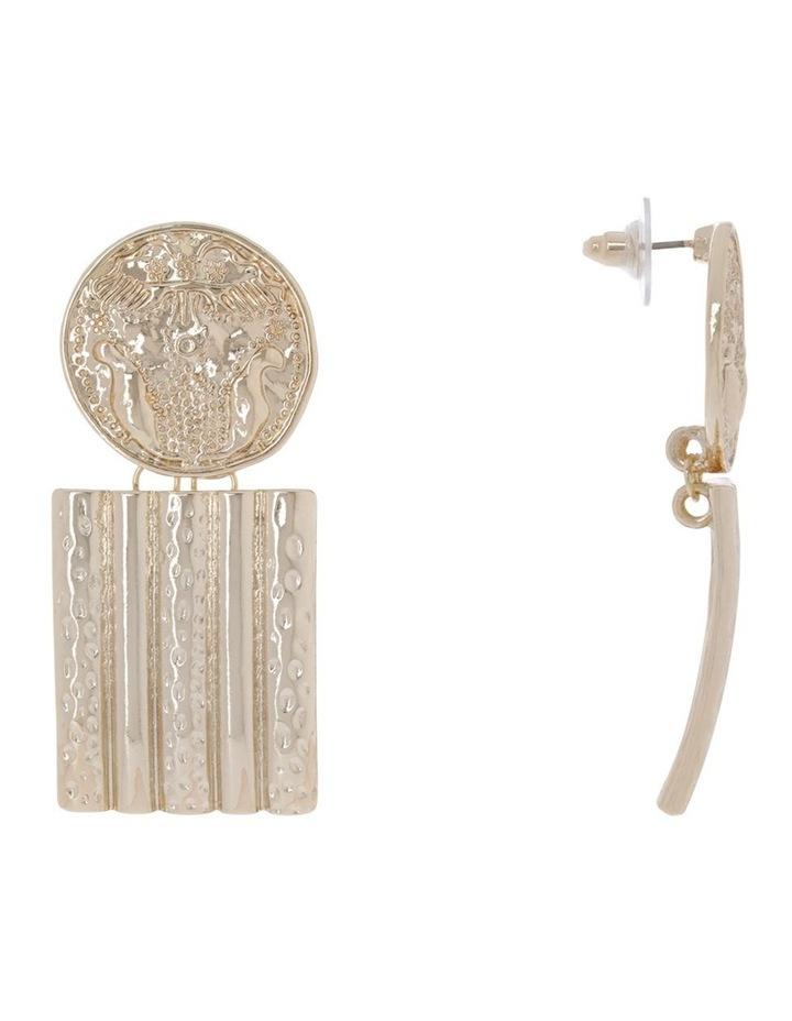 Retro Oversize Coin Earring image 2