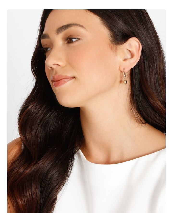 Ball Drop Huggie Earring image 2