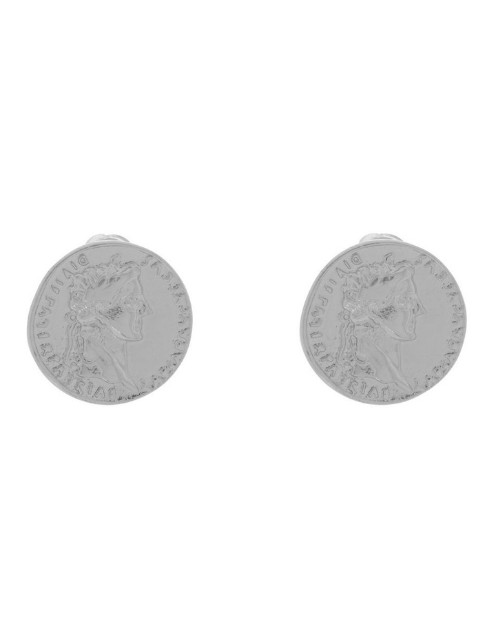 Coin Stud Earring image 1