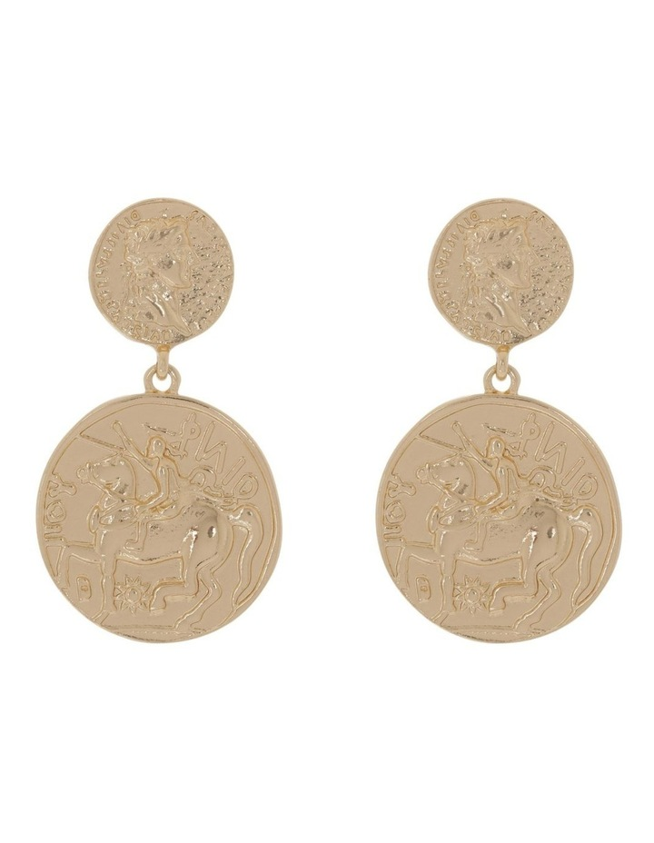 Coin Drop Earring image 1