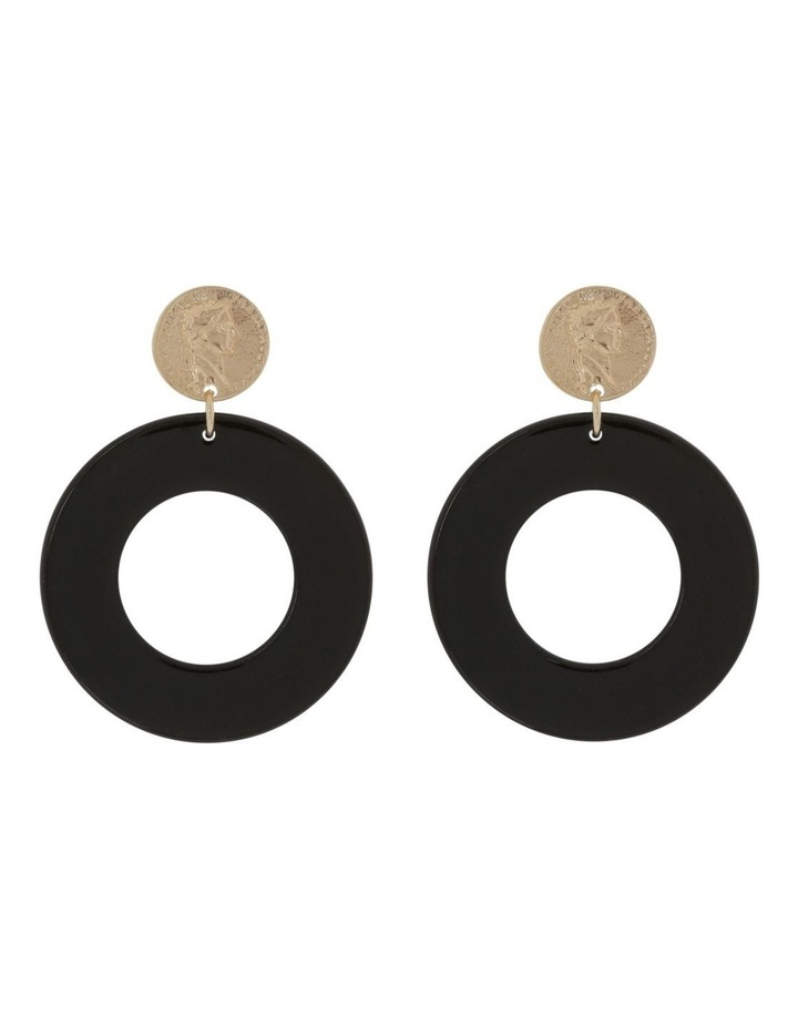 Coin Acetate Earring image 1