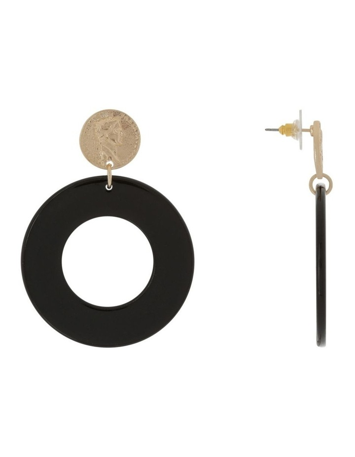 Coin Acetate Earring image 2