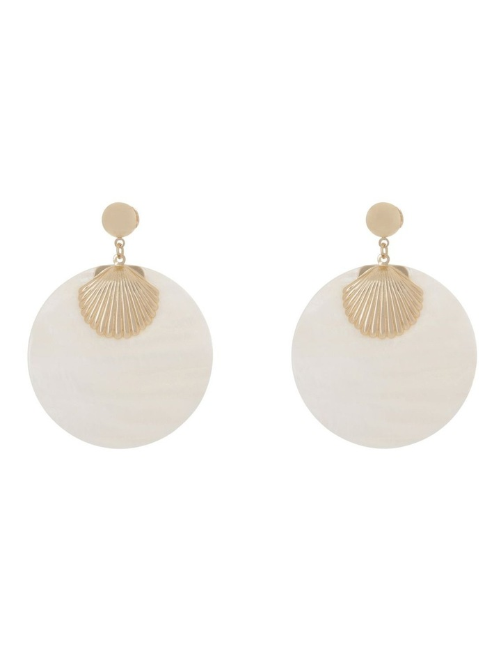 Shell Statement Earring image 1