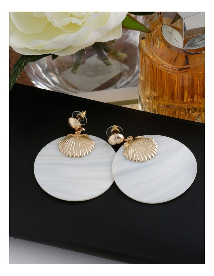Shell Statement Earring image 3