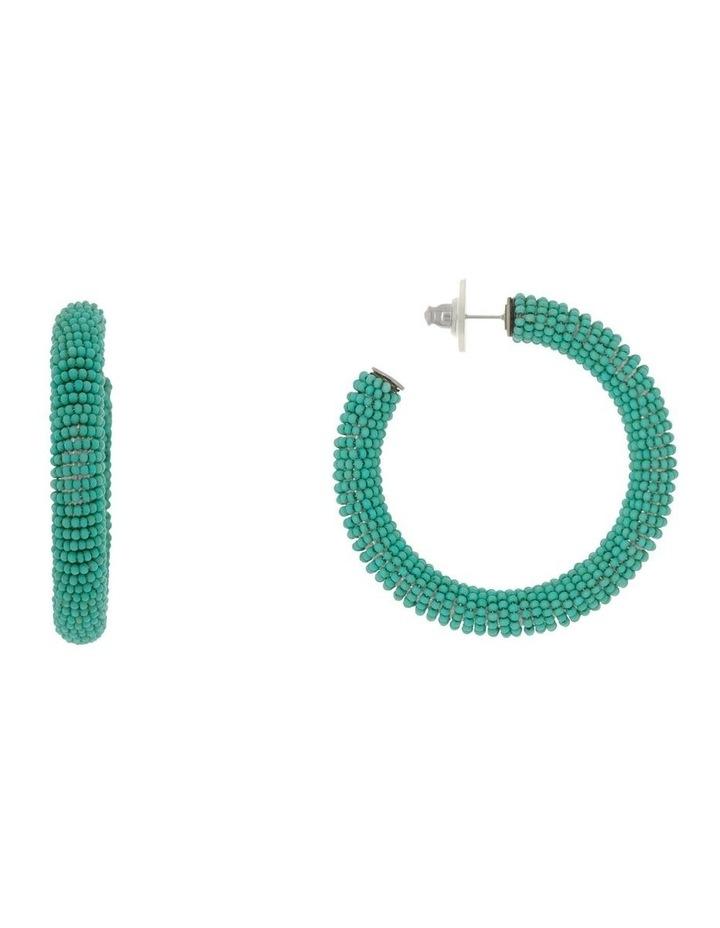 Large Seed Bead Hoop image 1