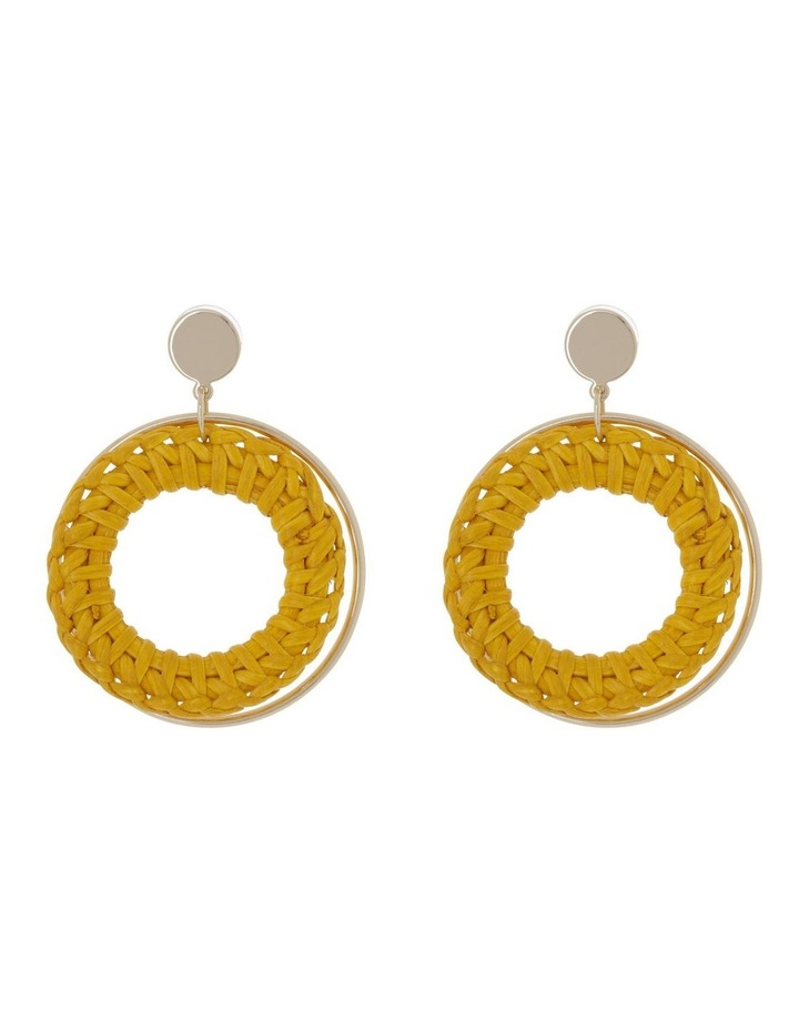 Raffia Metal Earring image 1