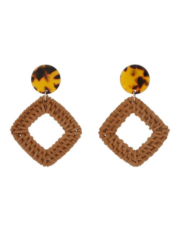Square Raffia Earring image 1