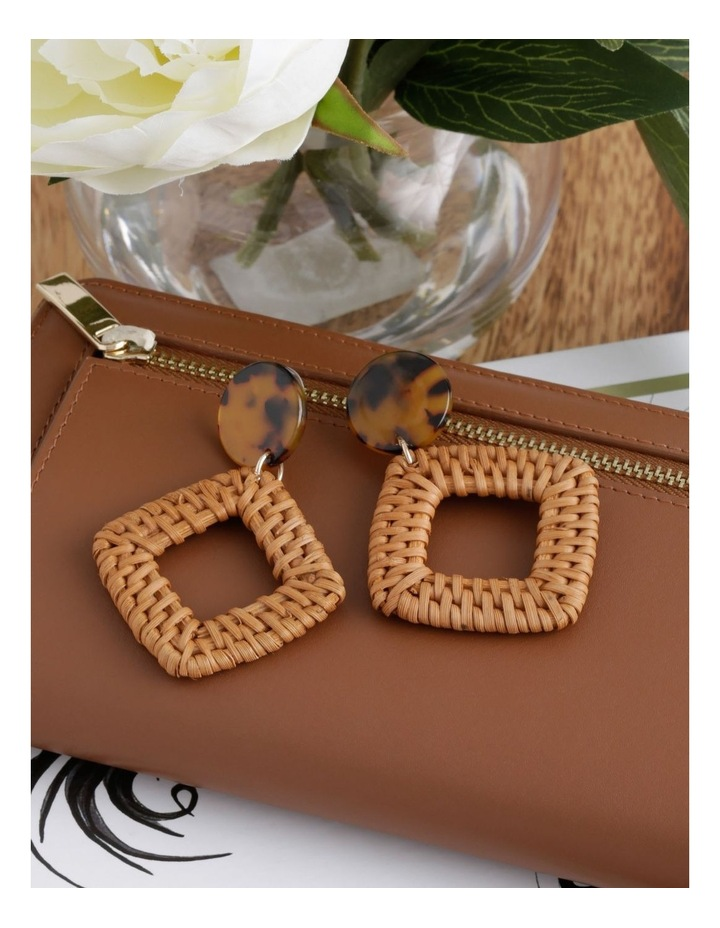 Square Raffia Earring image 3