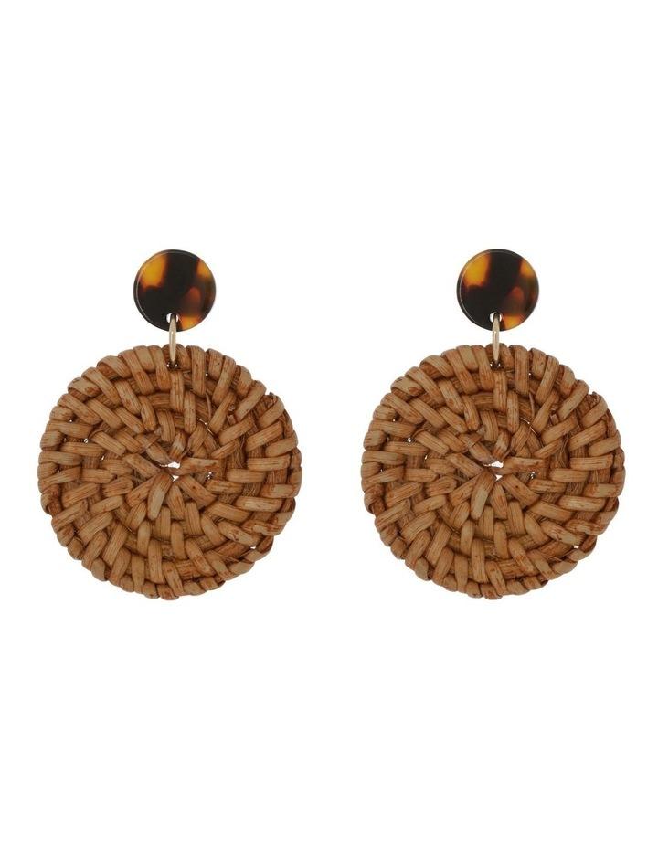 Circle Raffia Earring image 1