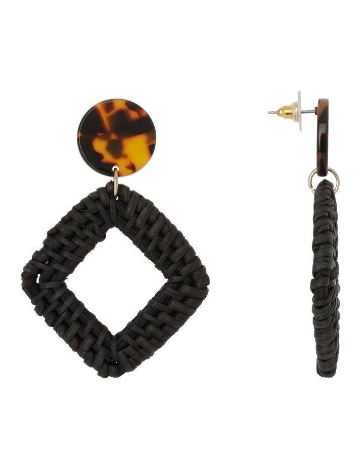 Square Raffia Earring image 2