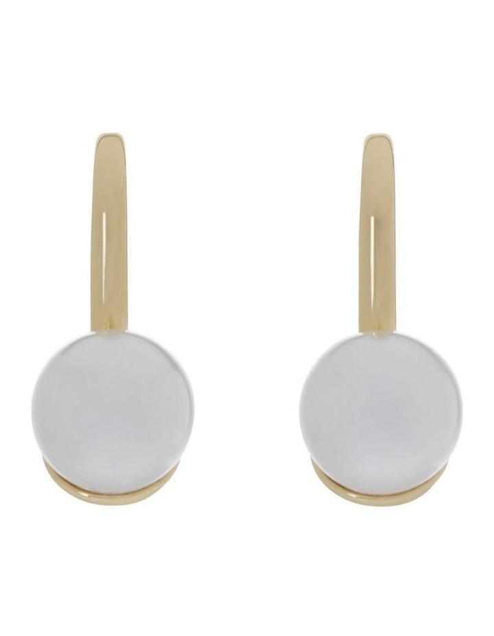 Glass Pearl Hook Earring image 1