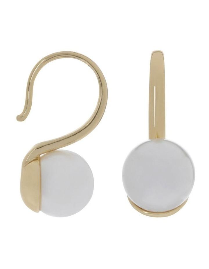 Glass Pearl Hook Earring image 2