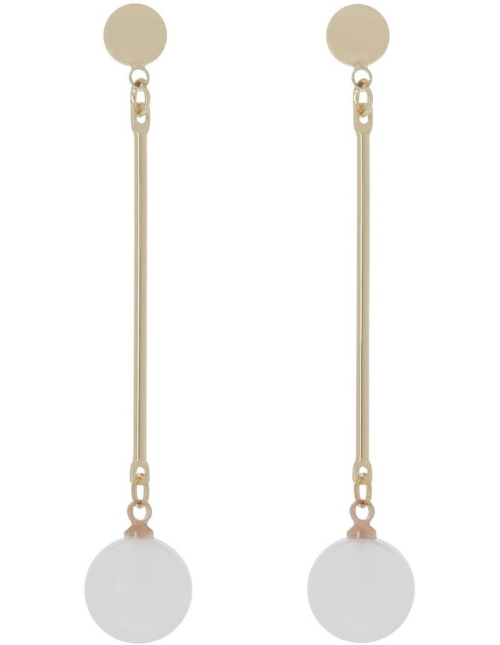 Glass Pearl Drop Earring image 1
